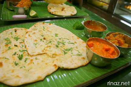 Naan Bread at Ananda Bhavan