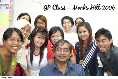 My General Paper Class with Mr Chako, Oct 2006