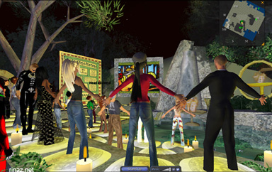 Mass Praying in Secondlife