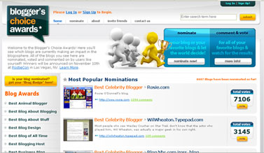 Bloggers Choice Awards