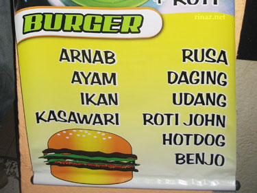 List of burger patties in Malaysia