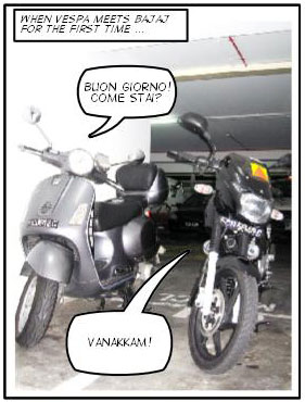 When Vespa Meets Bajaj