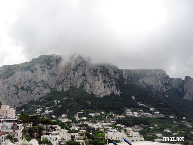 Cloudy in ana capri