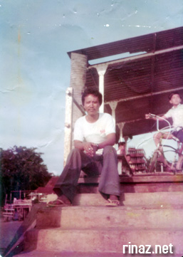 My dad waiting at the Jetty in Pulau Tekong in the 70s before it was taken over by the military