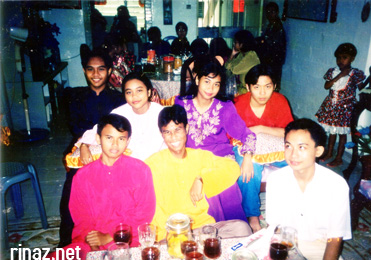 Hari Raya with friends in 1994