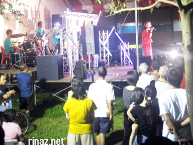 A getai performance at Hungry Ghost Festival