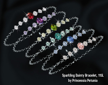 Sparkling dainty bracelet by Princessia Petunia