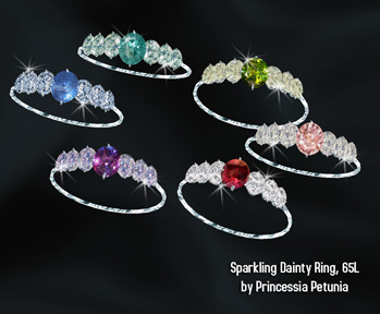 Sparkling dainty ring by Princessia Petunia