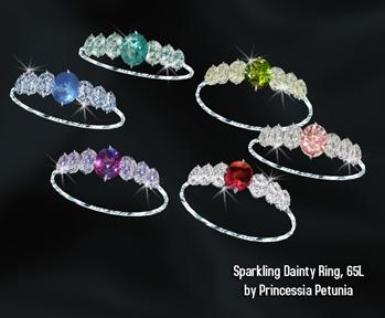Sparkling dainty ring by Princessia Petunia