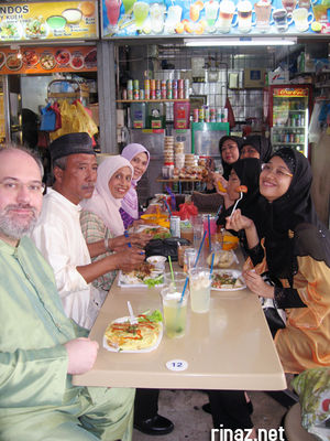 Cart and Rinaz Family having lunch