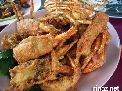 Deep fried lobsters