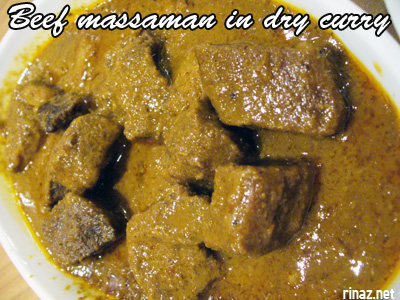 Beef massaman in dry curry - Siam Kitchen - Jurong Point