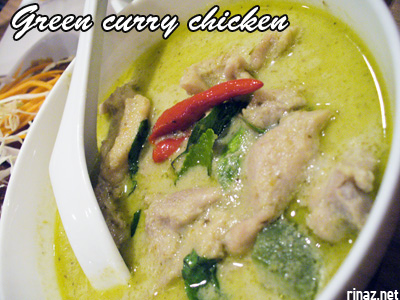 Green curry chicken - Siam Kitchen - Jurong Point