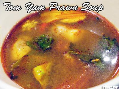 Tom Yum prawn soup - Siam Kitchen - Jurong Point