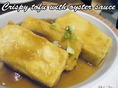 Crispy Tofu with oyster sauce - Siam Kitchen - Jurong Point