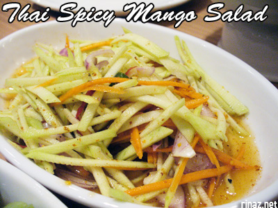 Thai Spicy Mango Salad - Siam Kitchen - Jurong Point