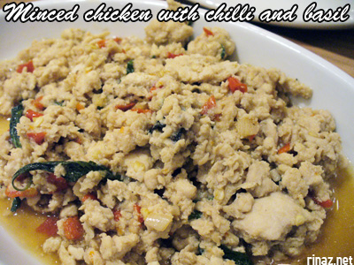 Minced chicken with chilli and basil - Siam Kitchen - Jurong Point