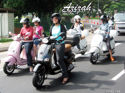 Azizah ET8 Vespa Ladies Ride