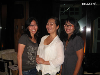 mintea, yasmin ahmad and rinaz at the screening room, Singapore