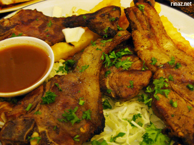 Riyash Ganam Lamb Chops at El Sheikh