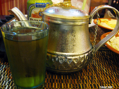 Cold Mint Tea at El Sheikh