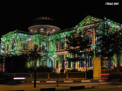 Singapore National Museum with light spots