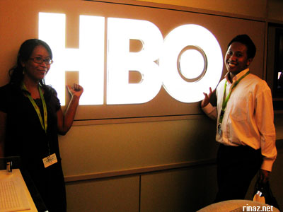 Rinaz and Mus at the HBO office