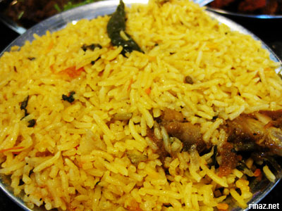 Chicken Dum Biriyani at Anjappar Chettinad Restaurant