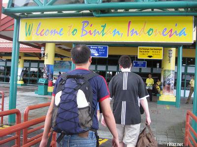 welcome to bintan sign