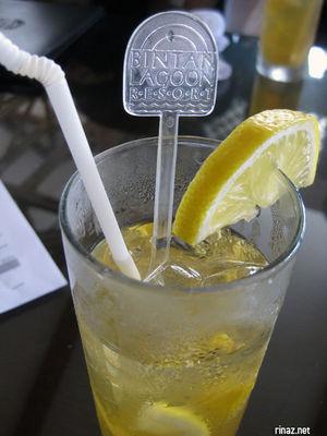 Welcome drink at Bintan Resort Lagoon