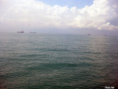 Seaview from ferry to Bintan