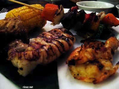 Dinner at Nelayan Grill, Bintan Resort Lagoon