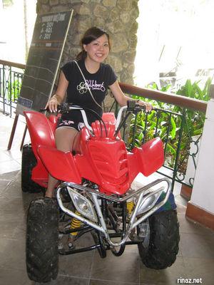 Jenjen on Quad Bike