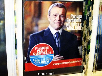 I Cesaroni Poster in Garbatella, Rome, Italy