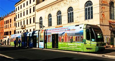 Tram in Rome, Italy