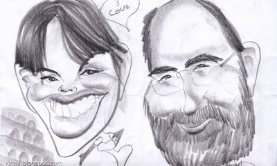 Caricature of Cart and Rinaz
