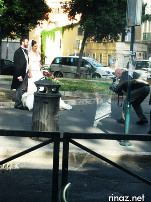 Someone getting married, Rome, Italy