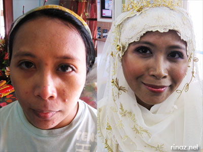 Rinaz before and after solemnization make up