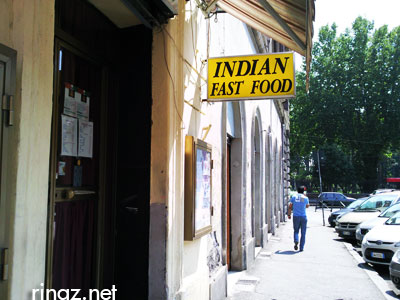 Indian Fast Food restaurant in Esquilino, Rome