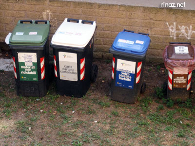 Rubbish bins in Italy