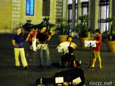 Buskers in Trastevere
