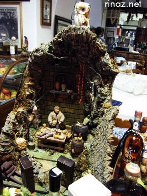 Diorama at Trattoria Dei Cacciotori