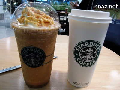 Toffee Nut Latte and Frappacino