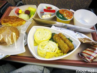 Breakfast in Emirates flight