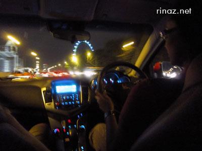 Hema drove us