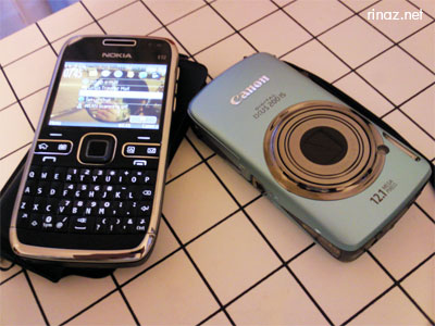 Nokia E72 and Canon Ixus 200 IS