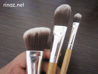 Everyday Minerals - The angled blush brush, the foundation brush and the concealer brush
