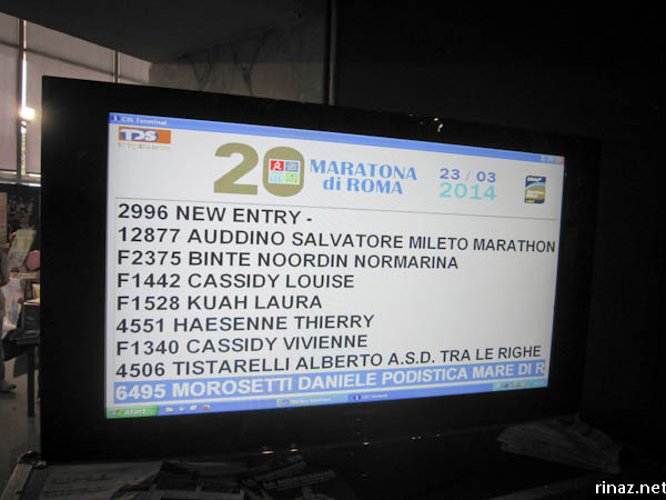 rinaz.net Maratona di Roma #rinazdoes2km