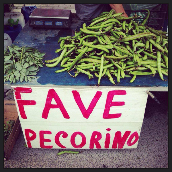 rinaz.net Fava beans being sold in Rome
