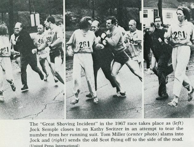 First registered woman in Boston Marathon